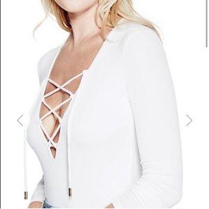 NEW GUESS Lace Front Bodysuit